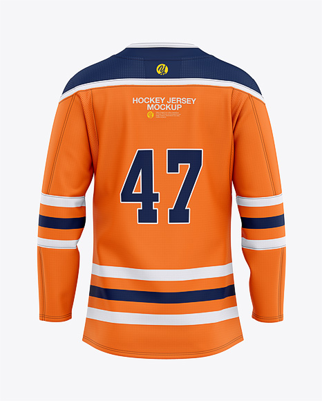 Download Mens Hockey Jersey Back View Jersey Mockup PSD File 213.47 MB