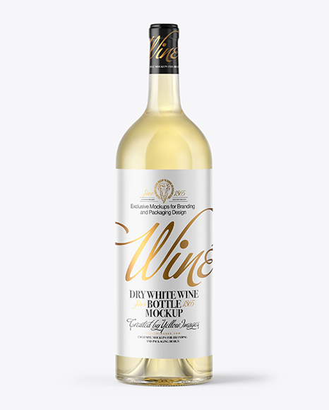 Download 15l White Wine Bottle With Cork Psd Mockup Yellowimages