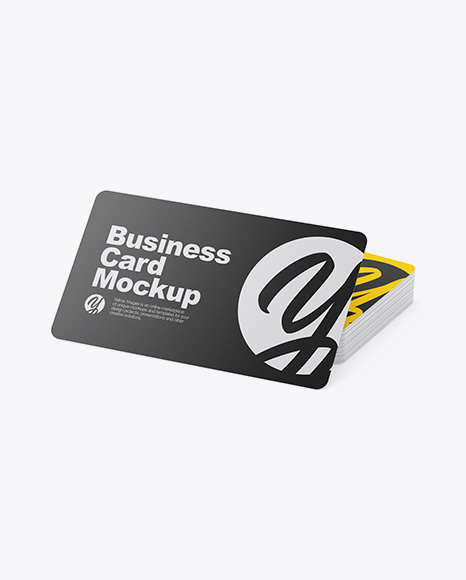 Download Rounded Corner Business Card Mockup Free Download Yellow Images