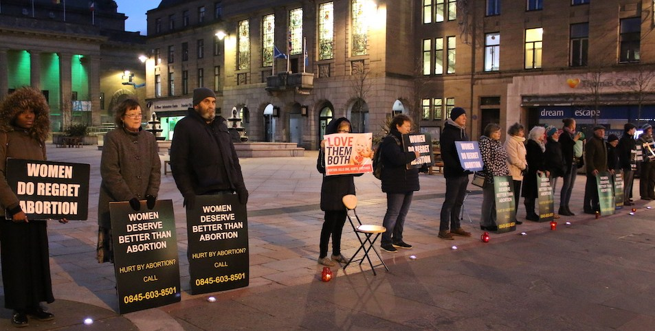 Silent Vigil in Dundee City Square