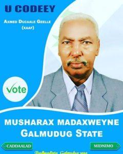 Xaaf oo loo doortay Madaxweynaha Galmudug State