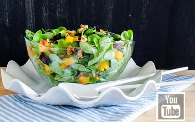 Şeftalili Semiz Otu Salatası (videolu)