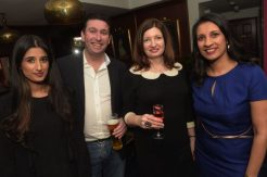 Simran Bansal, Kevin Bourke, Fionnuala Bourke and Anita Champaneri