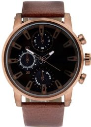 Rose gold toned watch, £30, River Island