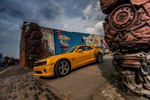 Cineworld 7 - Bumblebee driving through Custard Factory