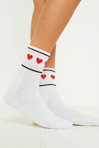 Heart Motif Socks, £6, Urban Outfitters
