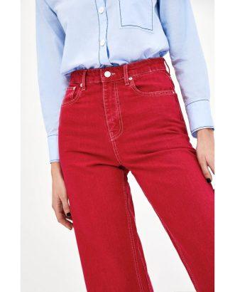 Jeans High Waist Culotte Vermont Red, £29.99, Zara