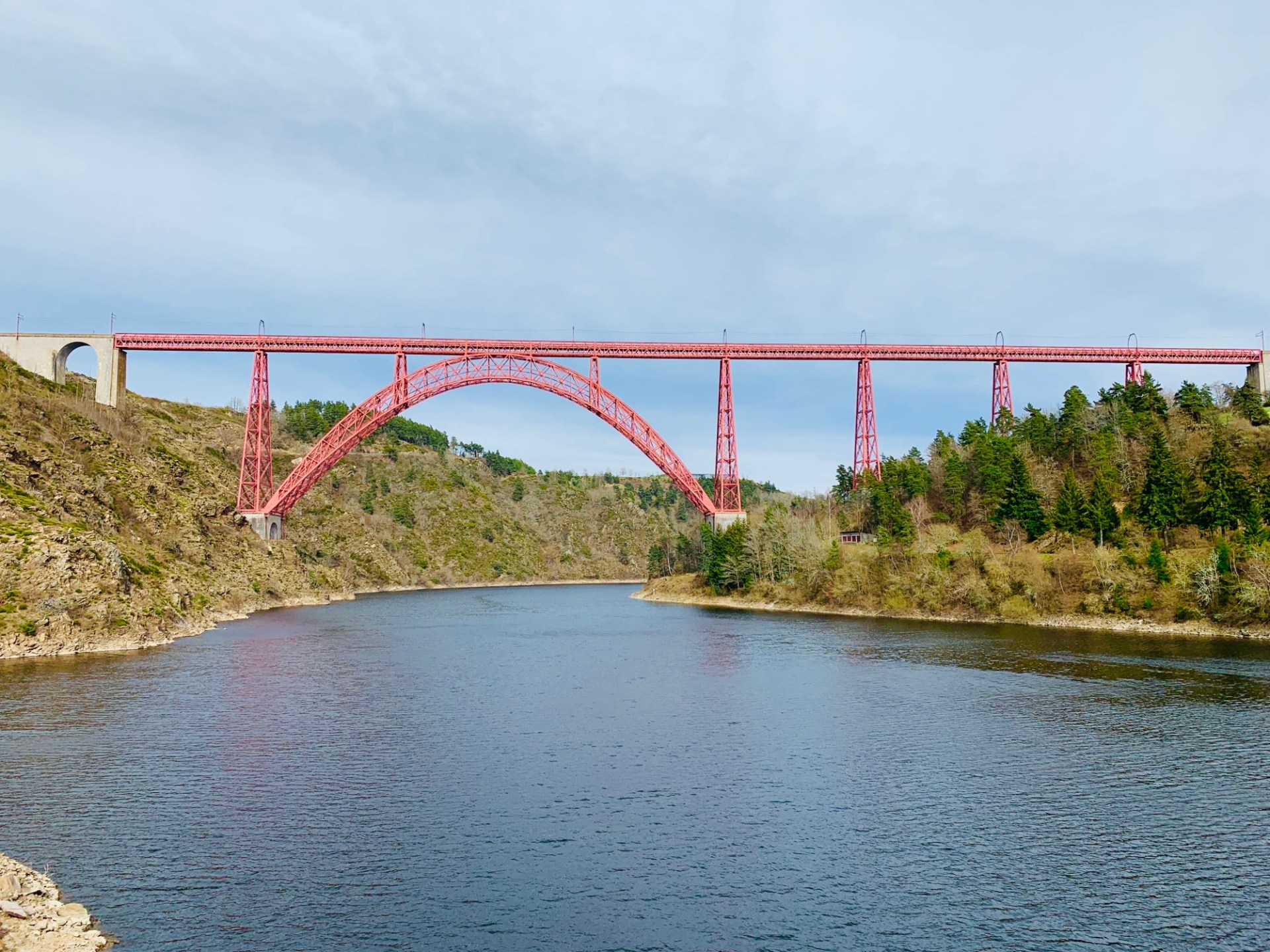 Garabit viaduct viewed from the river
