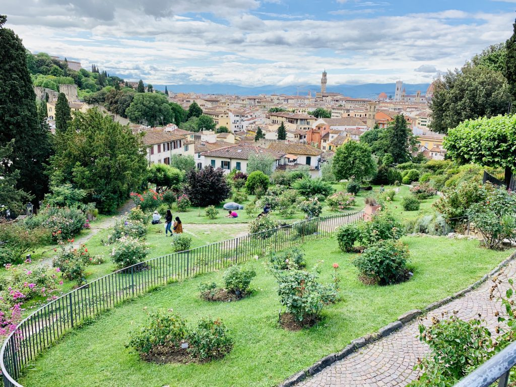 Looking over Florence from the Rose garden at Piazzale Michelangelo