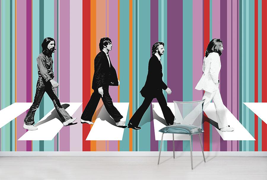 Beatles Abbey Road Wallpaper Mural
