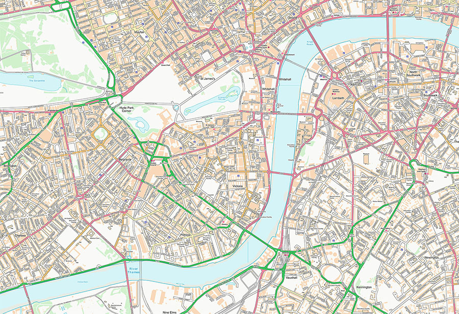 Customised OS Street Map Wallpaper Mural