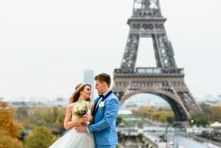 Свадебный фотограф в Париже. Эйфелева башня свадьба