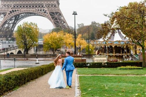 Свадьба в Париже. Свадебная церемония у Эйфелевой башни