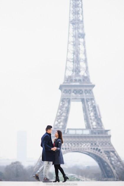 Зимняя фотосессия в париже