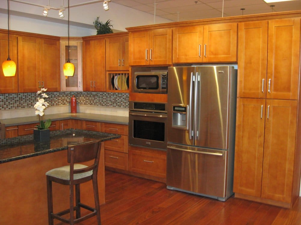 Our Most Popular Cabinets: Honey Maple Shaker Style | Yelp on What Color Granite Goes With Honey Maple Cabinets  id=47477