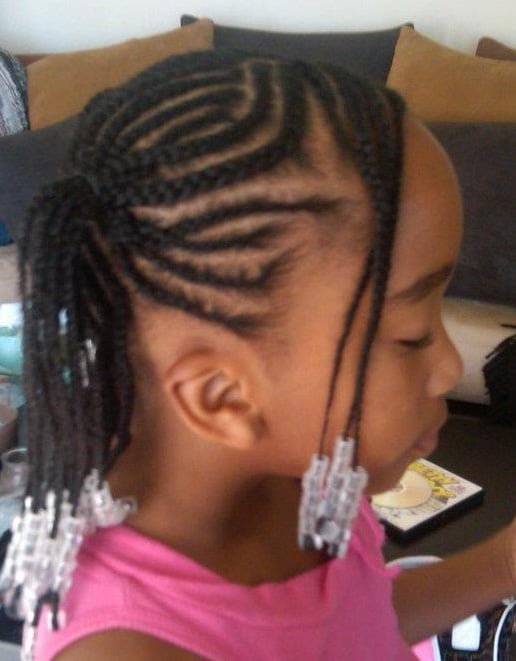No Knot French Braids Two Layers With Two Ponytails Yelp