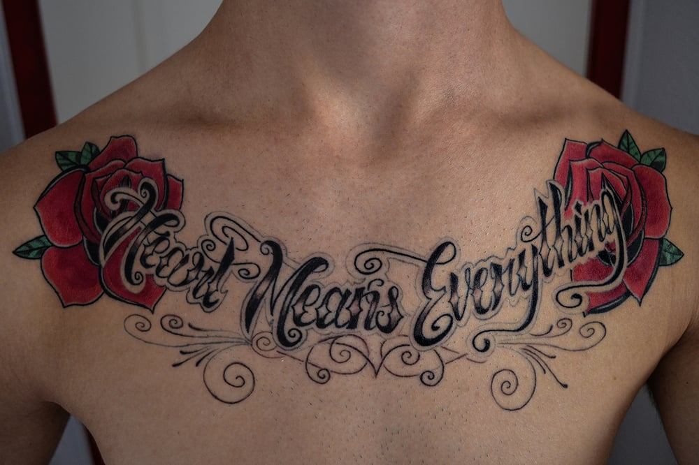 """Heart Means Everything"" A Day To Remember Inspired Chest"