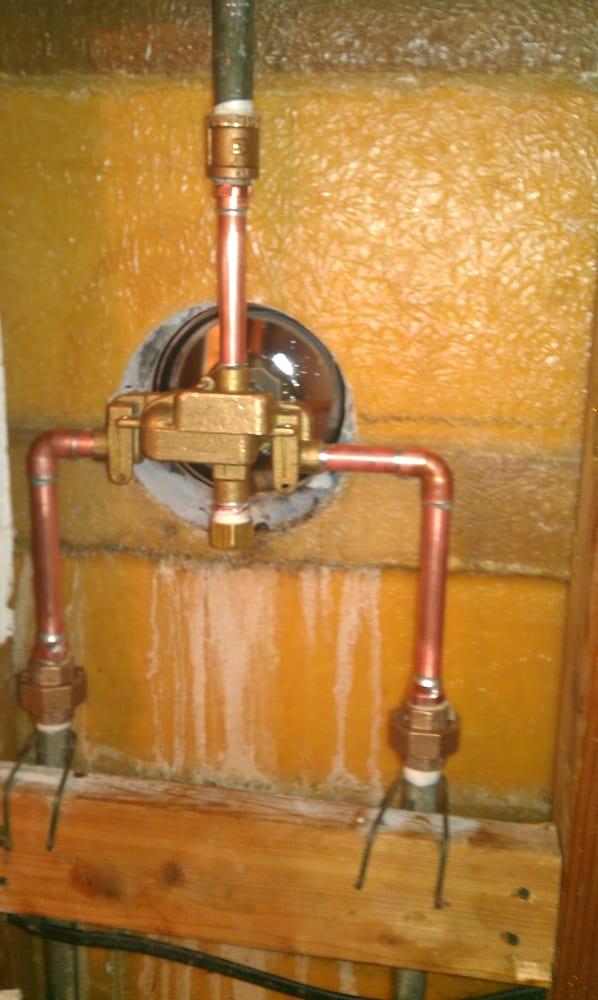 Shower Valve Installation On Galvanized Pipe Yelp