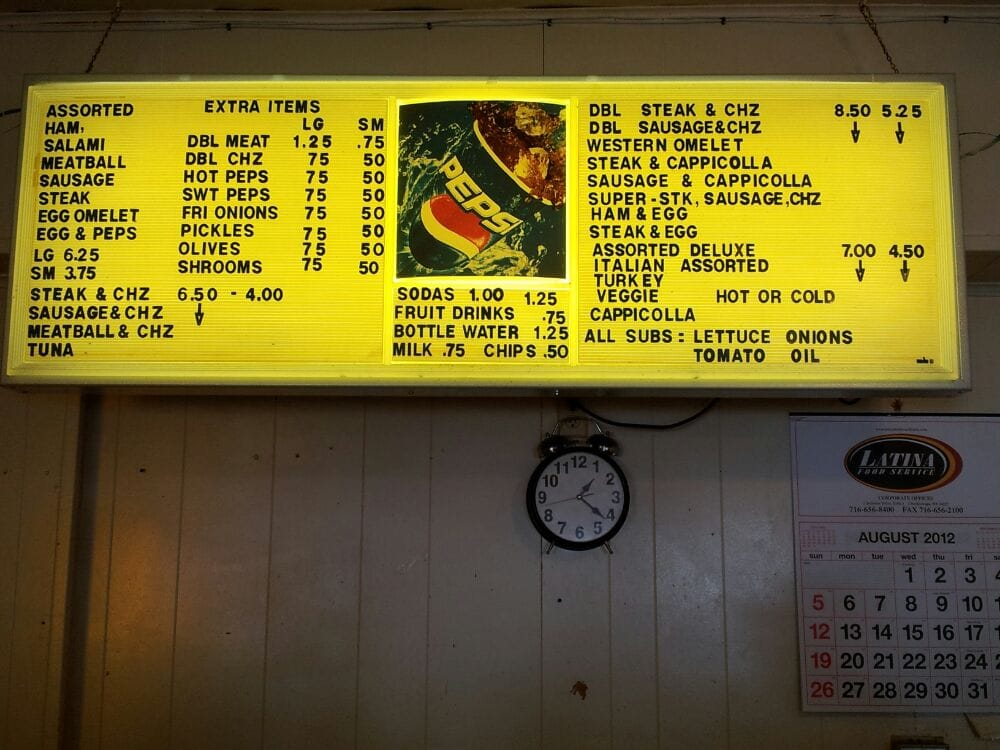 The Menu Although All 7 Of The Customers That Came In