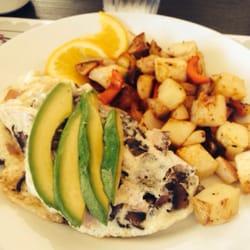 Beach Plum Kitchen Egg White Omelette Ham Mushrooms