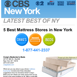 Photo Of Craig S Beds New York Ny United States Thank You Cbs
