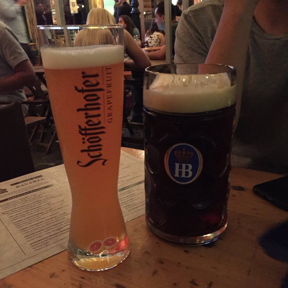 1 Liter Munich Dunkel Lager & 1/2 liter Schofferhofer grapefruit - Yelp
