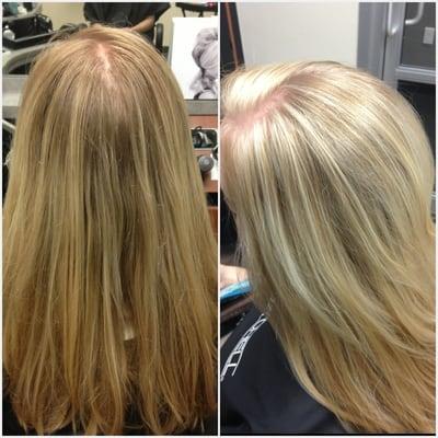 white highlights on brown hair dark brown hairs