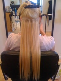 fusion hair extensions strand by strand method couture hair studio 206 407 9655 yelp