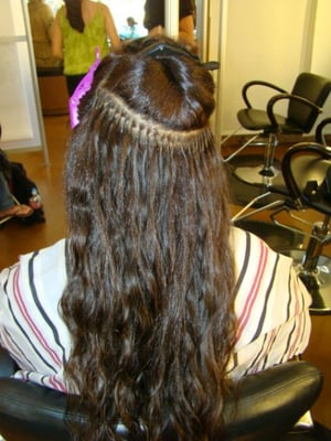 strand by strand hair weave kind of hair extensions