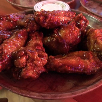 Photo of Hooters of Tropicana - Atlantic City, NJ, United States. Honey BBQ wings.