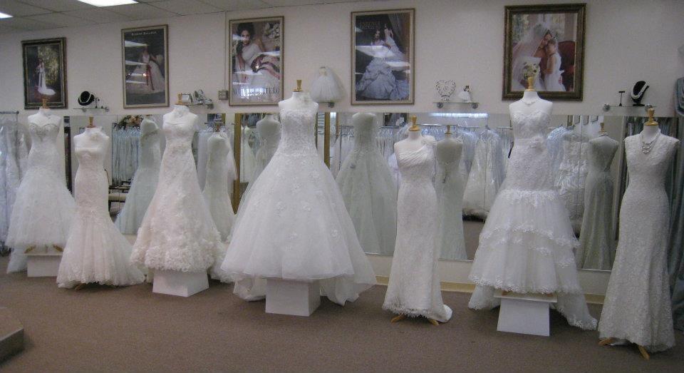 Wedding Gown Display At Mafalda's