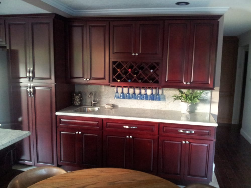 Stunning Maple Cherry Kitchen Cabinets, with Kashmire ... on Maple Kitchen Cabinets With Granite Countertops  id=11293