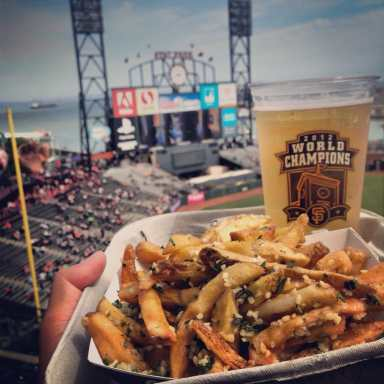 Image result for garlic fries oracle park
