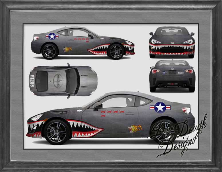Scion FRS fighter car wrap design   Yelp Photo of Low Dough Designs   Car Wraps   El Sobrante  CA  United States