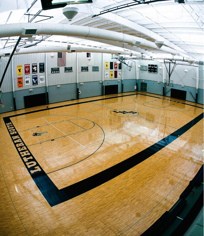 Lutheran High School South - Newport, MI, United States. New gymnasium