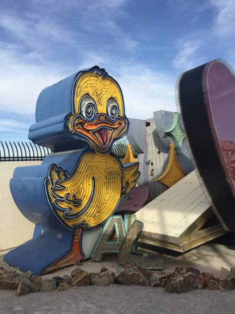 Neon Museum - Las Vegas, NV, United States. Rubber Ducky you're the one.