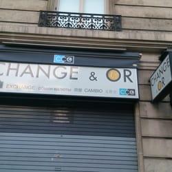 photo de comptoir de change opera paris france