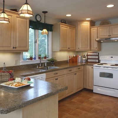 Hardrock maple cabinets. Vintage style. Formica ... on Kitchen Countertops With Maple Cabinets  id=28488