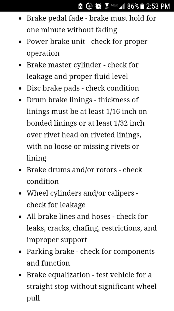 Ny Dmv Brake Inspection Requirements Yelp