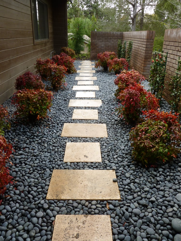 This small courtyard serves as access to the side yard ... on Side Yard Designs  id=15224