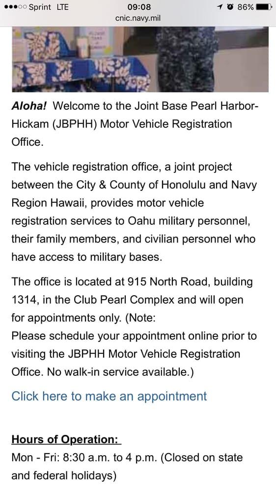 Department Of Motor Vehicles Honolulu Hours