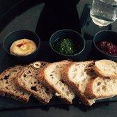 Cavern Baggot Street - Dublin, Republic of Ireland. Hummus, pesto and beetroot tzatziki