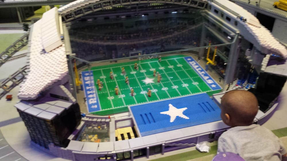 Dallas Cowboys Lego Stadium   Yelp Photo of LEGOLAND Discovery Center   Grapevine  TX  United States  Dallas  Cowboys Lego