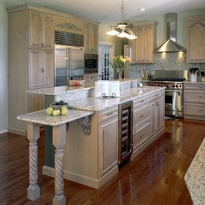 Maple cabinets with White glaze. Granite countertops. | Yelp on Maple Cabinets With White Countertops  id=53658