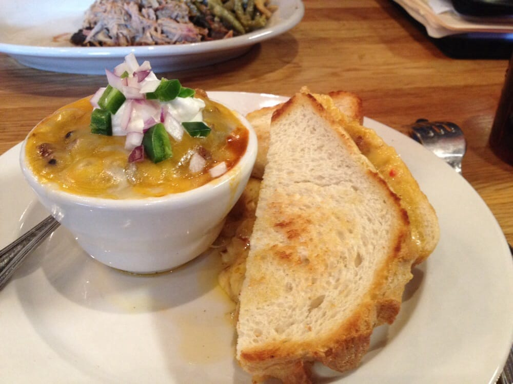 Chili And A Grilled Pimento Cheese