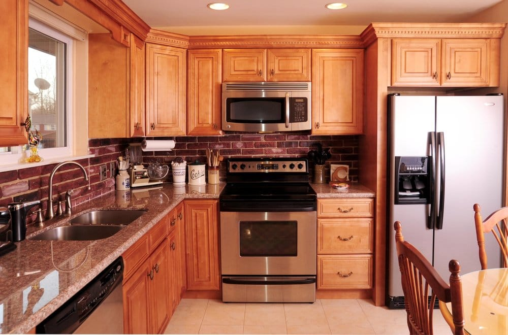 Honey Maple Cabinets with granite countertop -- Sewell, NJ ... on Countertops With Maple Cabinets  id=87539
