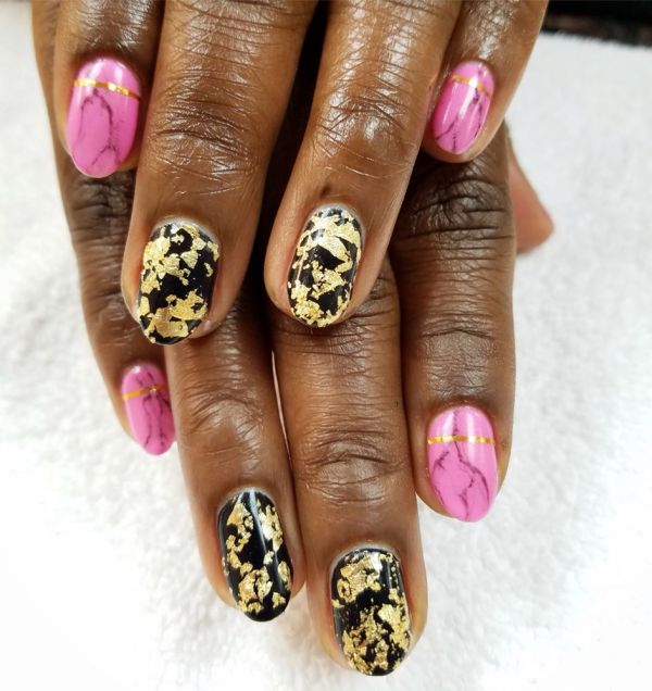Gel Manicure with Nail Art by Hayley - Yelp