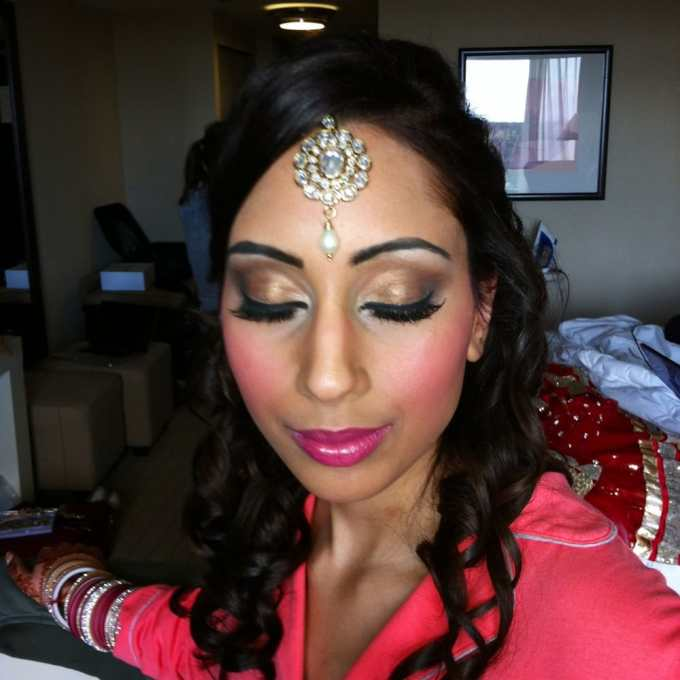 indian bridal makeup and hair by alejandra thomasson of hair