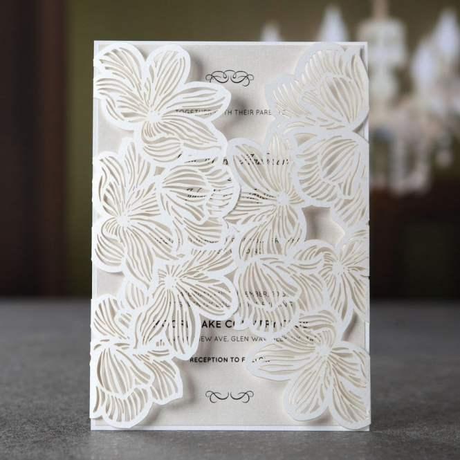 Laser Cut Wedding Invitation Gate Fold Yelp