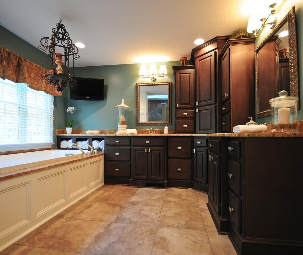 NARI CotY Award winning master bathroom featuring Maple ... on Bathroom Ideas With Maple Cabinets  id=57252